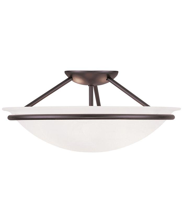 Livex - Newburge Bronze Semi Flush Ceiling Lamp