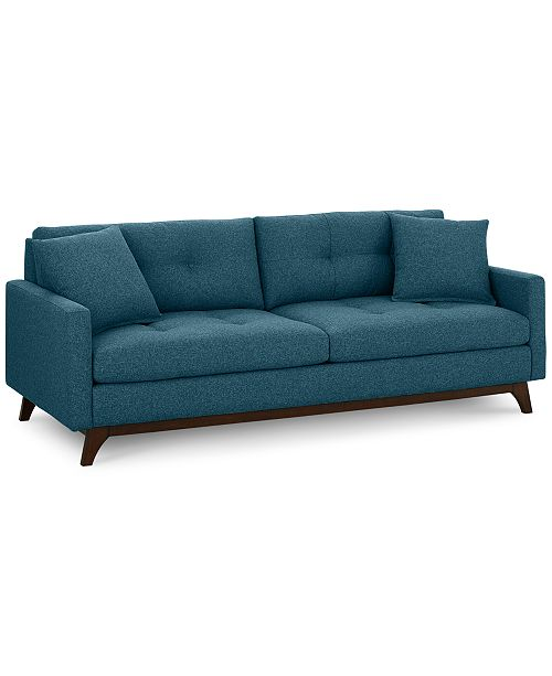 "Furniture Nari 89"" Fabric Tufted Estate Sofa - Custom Colors, Created for Macy's"