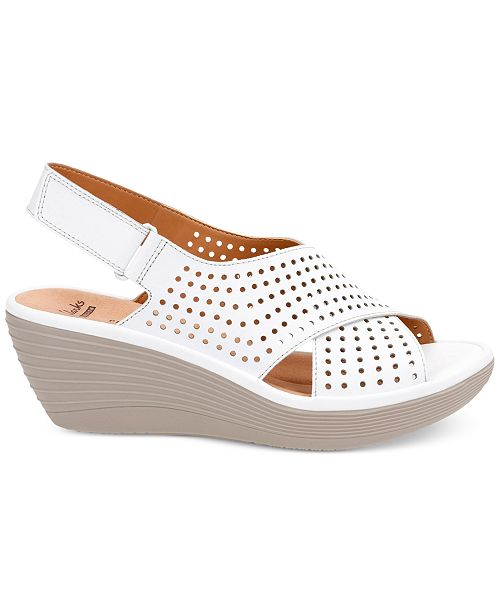 7782041e68dc Clarks Collection Women s Reedly Variel Wedge Sandals   Reviews ...