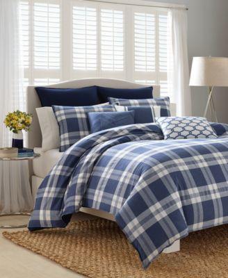 CLOSEOUT! Cunningham Plaid Twin Comforter Set