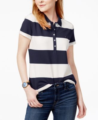 Polo Shirt Standard and Plus Size Tommy Hilfiger Womens Short Sleeve Polo