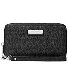 MICHAEL Michael Kors Signature Jet Set Item Large Flat Multi Function Phone Case