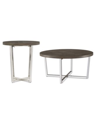 CLOSEOUT! Sutton Round Table 2-Pc. Set (Coffee Table & End Table)