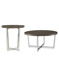 Sutton Round Table 2-Pc. Set (Coffee Table & End Table)