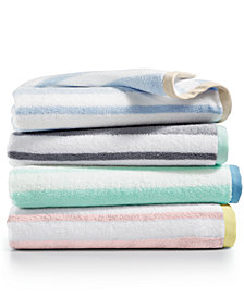 Martha Stewart Collection Cotton Stripe Washcloth, Created for Macy's