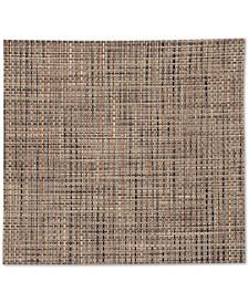 """Square Basketweave Woven 13"""" x 14"""" Vinyl Placemat"""