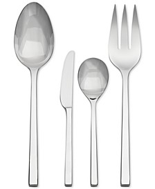 Flatware 18/10, Polished 4 Piece Hostess Set