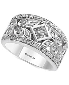 Pavé Classica by EFFY® Diamond Band (3/4 ct. t.w.) in 14k White Gold