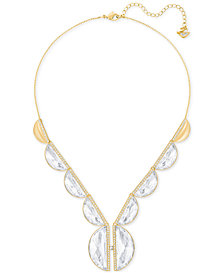 Swarovski Gold-Tone Crystal Statement Necklace