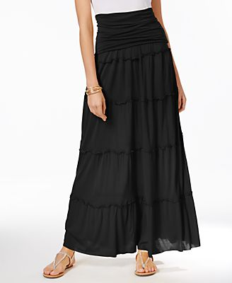 long black skirt - Shop for and Buy long black skirt Online - Macy's