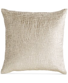 "Donna Karan Tidal 16"" Square Leather Decorative Pillow"