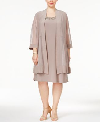 Mother of the bride plus size dresses with jacket