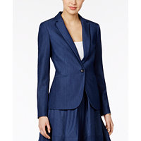 Tommy Hilfiger Womens Denim Blazer