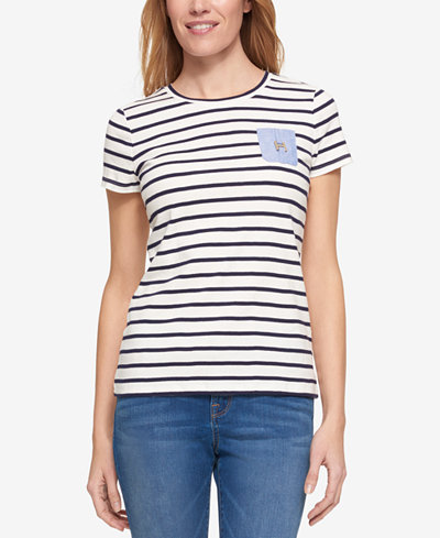Tommy hilfiger cotton striped t shirt only at macy 39 s for Tommy hilfiger fitzgerald striped shirt
