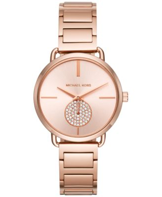 Michael Kors Women\u0027s Portia Stainless Steel Bracelet Watch 36mm