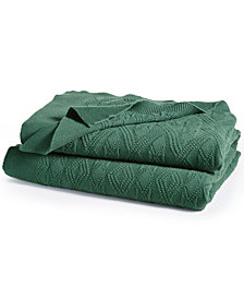 Lauren Ralph Lauren Cotton Double Diamond Knit Throw