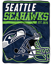 "Northwest Company Seattle Seahawks Micro Raschel 46x60 ""40 Yard Dash"" Blanket"