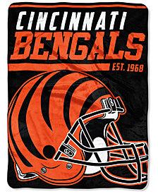 """Northwest Company Cincinnati Bengals Micro Raschel 46x60 """"40 Yard Dash"""" Blanket"""