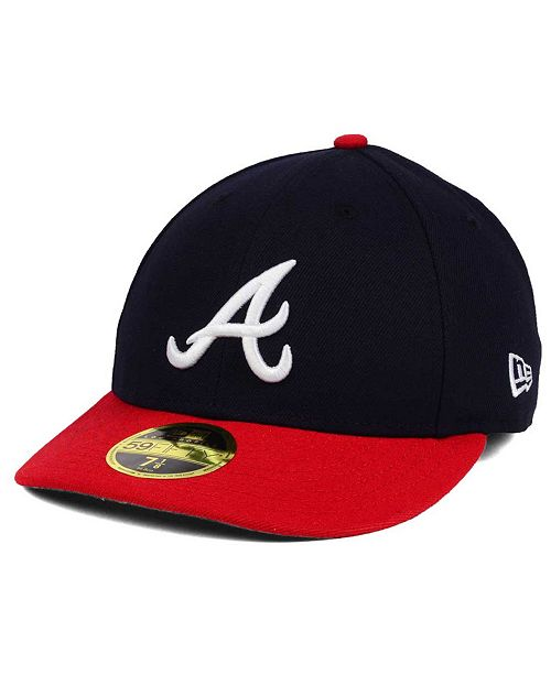 sports shoes 750f5 c1daa ... New Era Atlanta Braves Low Profile AC Performance 59FIFTY Cap ...