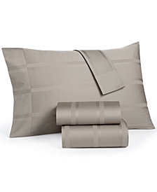 CLOSEOUT! Dobby Stripe King 4-pc. Sheet Sets, 400 Thread Count, 100% Cotton, Created for Macy's