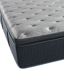 "CLOSEOUT! Beautyrest Silver Waterscape 15"" Plush Pillow Top Mattress- Queen"