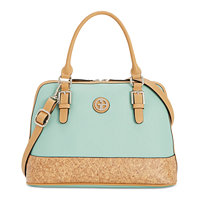 Giani Bernini Saffiano Cork Dome Satchel (Mint Macaron)