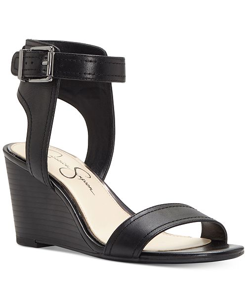 Jessica Simpson Cristabel Leather Wedge Sandal 4vz677WG6m