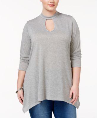 ING Trendy Plus Size Mock-Neck Tunic