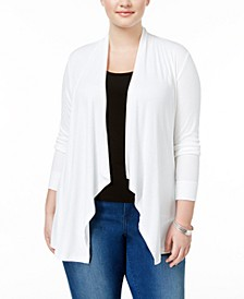 INC Plus Size Draped Cardigan, Created for Macy's