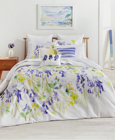CLOSEOUT! bluebellgray Bluebell Woods Cotton Reversible Full/Queen Duvet Set