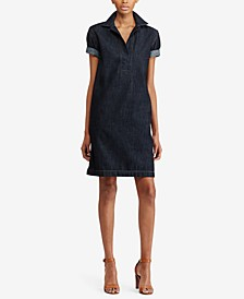 Denim Cotton Shift Dress