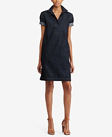 Lauren Ralph Lauren Denim Cotton Shift Dress