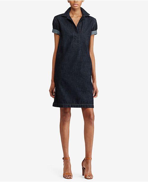 e9366aa18e9 Lauren Ralph Lauren Denim Cotton Shift Dress & Reviews - Dresses ...