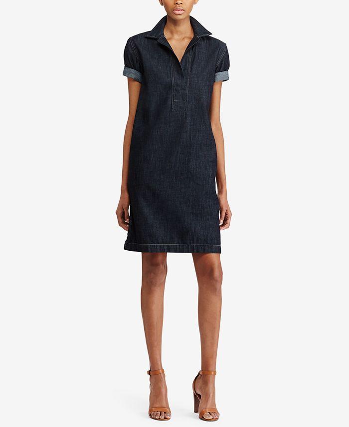Lauren Ralph Lauren - Denim Cotton Shift Dress