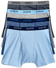 Men's 4 Pack. Cotton Boxer Briefs, Created for Macy's