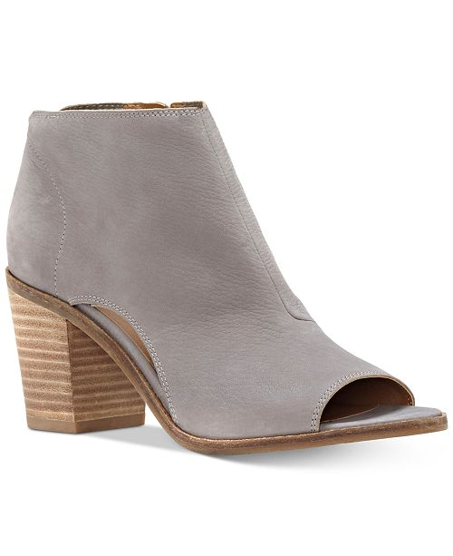 1c93e6e7e9b Lucky Brand Kasima Peep-Toe Block-Heel Booties   Reviews - Boots ...