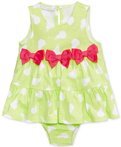 First Impressions Pear-Print Cotton Skirted Romper, Baby Girls (0-24 months), Only At Macy's