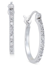 Diamond Hoop Earrings (1/10 ct. t.w.) in Sterling Silver