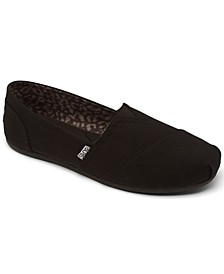 Women's BOBS Plush - Peace and Love Casual Slip-On Flats from Finish Line