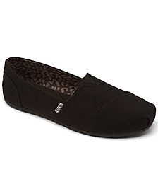 Skechers Women's Bobs Plush - Peace and Love Casual Slip-On Flats from Finish Line