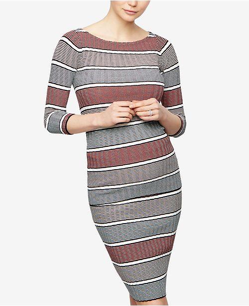 A Pea in the Pod Maternity Striped Boat-Neck Sweater