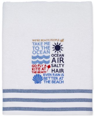 "Beach Words 27"" x 52"" Bath Towel"