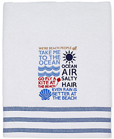 "Avanti Beach Words 27"" x 52"" Bath Towel"