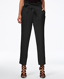 Paper Bag Tapered Trousers