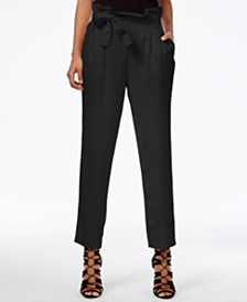 RACHEL Rachel Roy Paper Bag Tapered Trousers