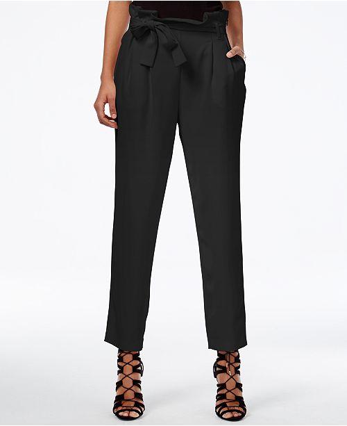 RACHEL Rachel Roy Paper Bag Tapered Trousers