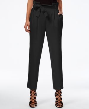 Rachel Rachel Roy Paper Bag Tapered Trousers, Created for Macy's