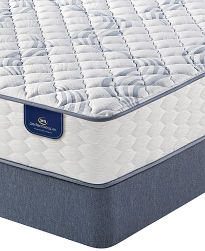 Serta Perfect Sleeper® Elegant Mist 10.5 Cushion Firm Mattress Set- Queen Split