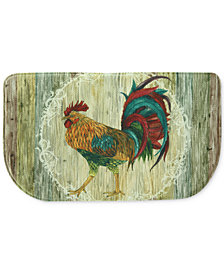 "Bacova Rooster Strut 18"" x 30"" Slice Kitchen Rug"