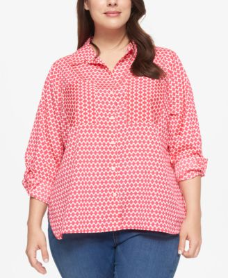 Tommy Hilfiger Plus Size Printed Shirt